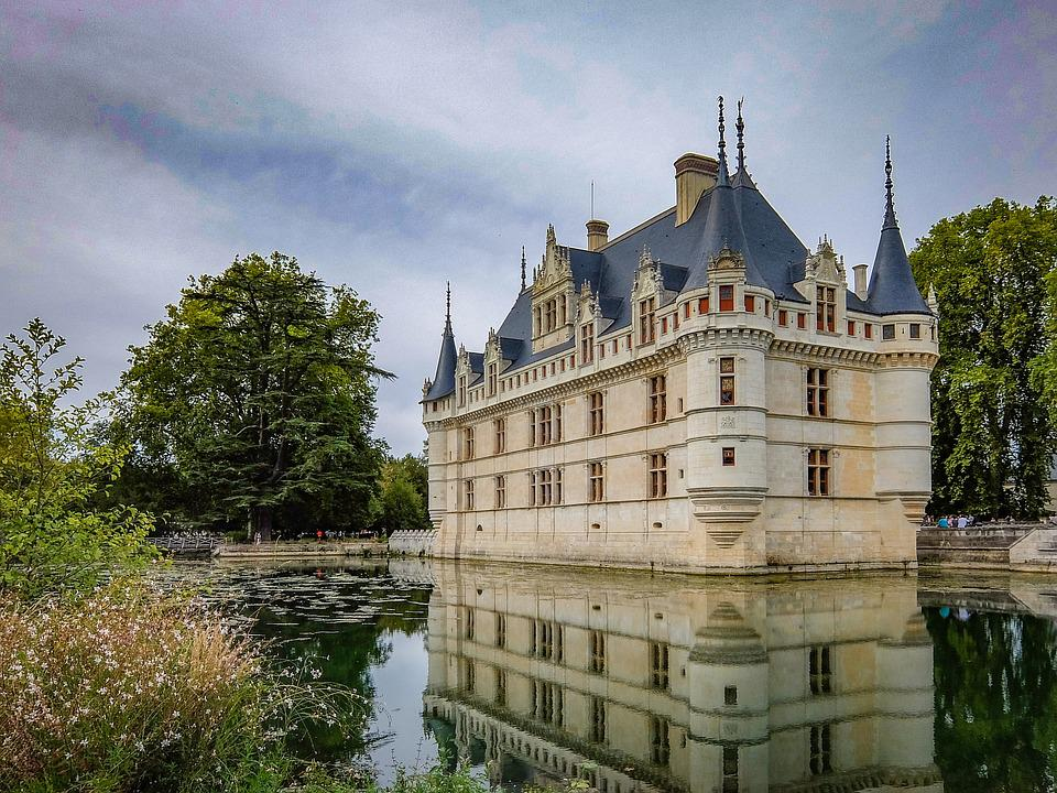 Azay-le-rideau, Castle, Medieval, Architecture, Chateau