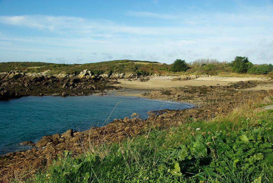 Normandy, Chausey Island, Rocks, Beach