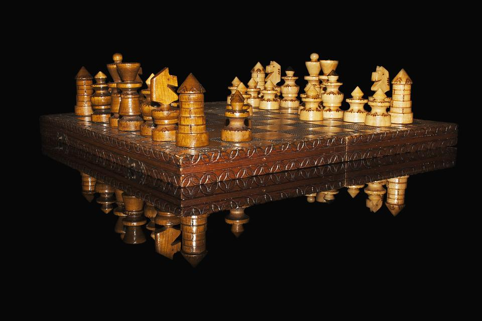Chess, Pawns, Checkerboard