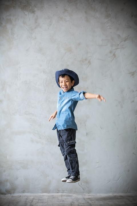 Jump, Boy, Happy, Child, Jumping For Joy, Cheerful