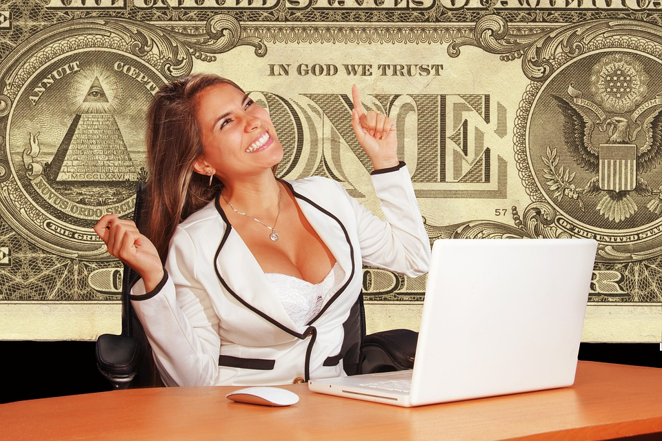 Businesswoman, Cheerful, Sure, Dollar, God, Trust