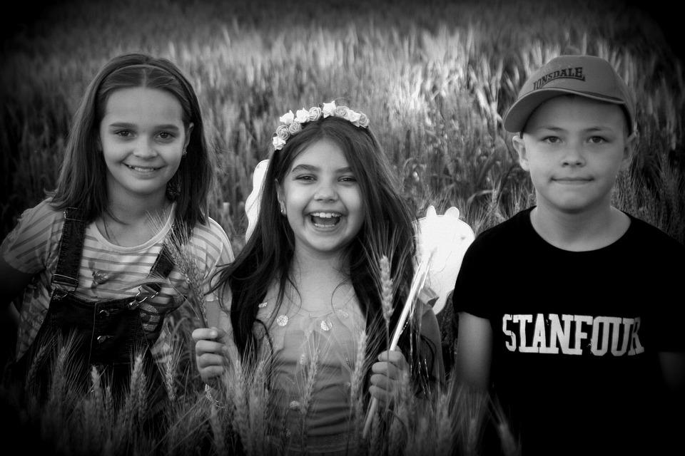 Kids, Cheerfulness, Portrait, Lan Wheat