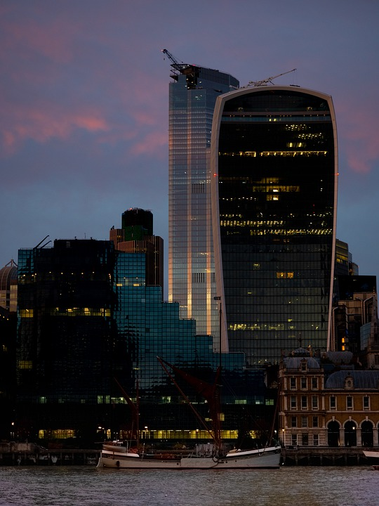 London, Cheese Grater, Sunset, Capital, City, Sky