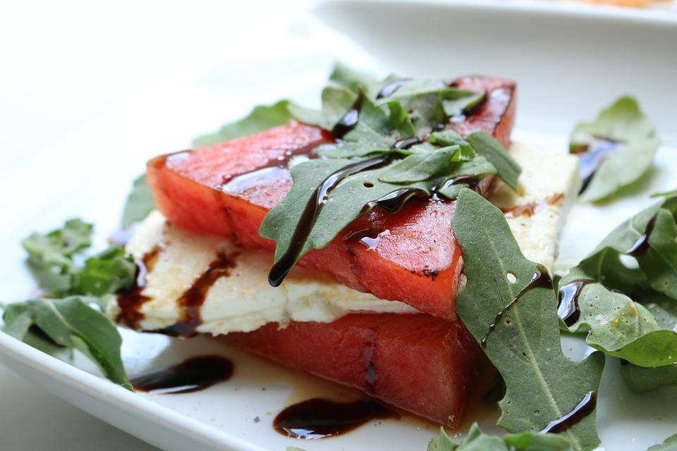 Melon, Feta, Rocket, Eat, Food, Cheese, Greek, Nature