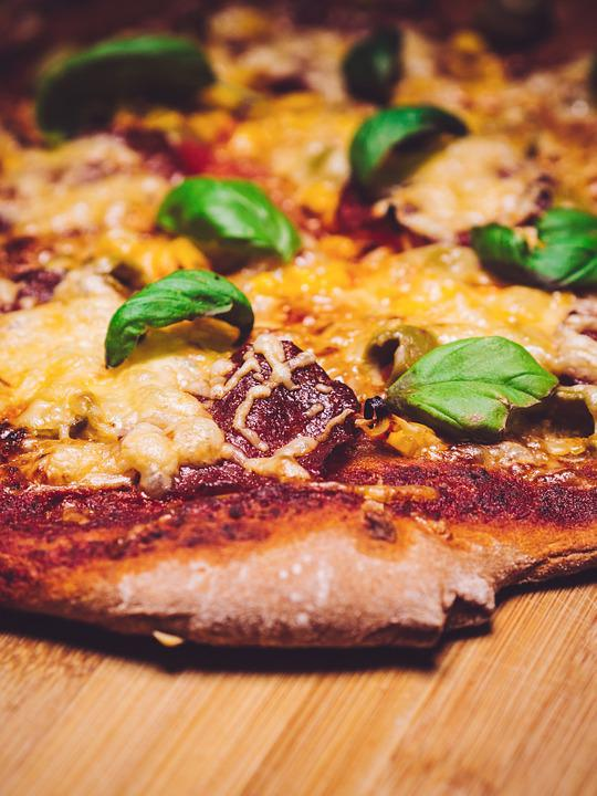 Pizza, Italy, Basil, Meat, Food, Tomato, Cheese