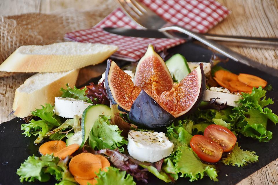 Salad, Figs, Cheese, Goat Cheese, Starter, Food
