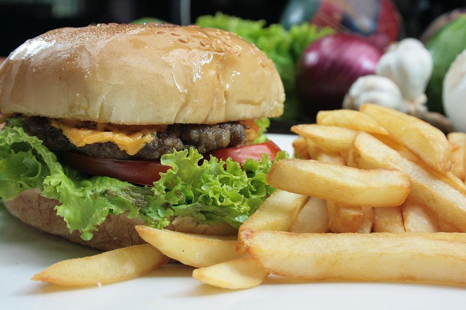Burger, Cheeseburger, French Fries, Food