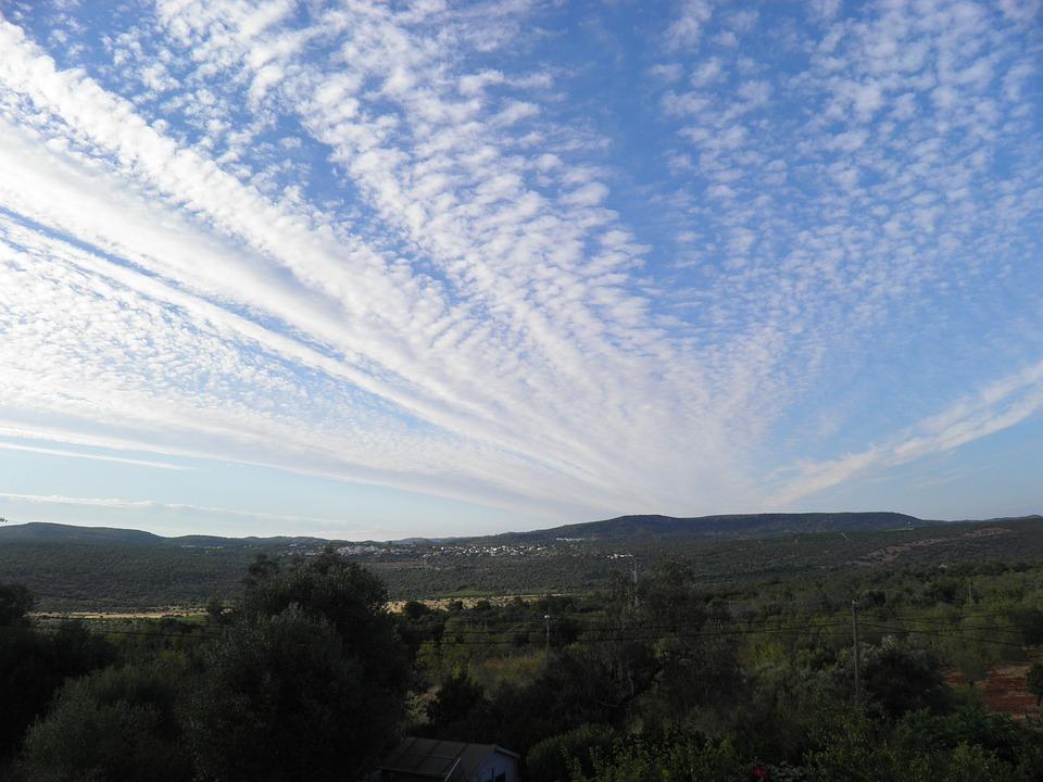 Sky, Chemtrails, Algarve, Clouds, Contrail, Atmosphere