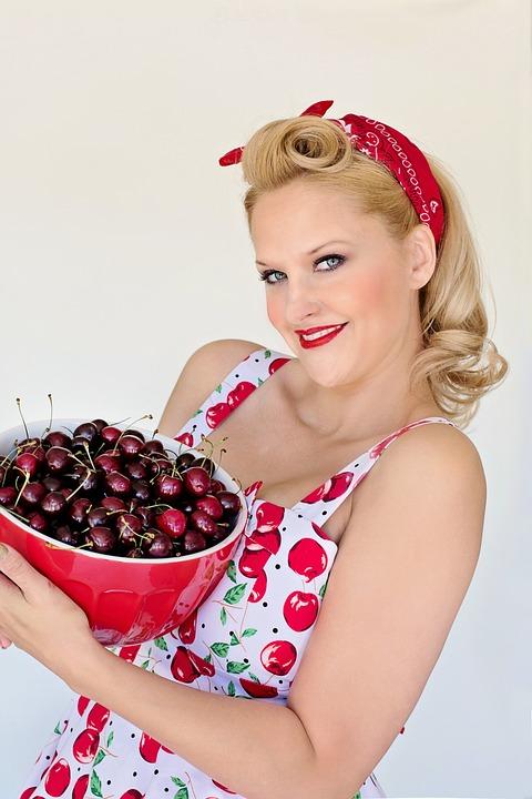 Cherries, Summer, Bowl Of Cherries, Pretty Woman