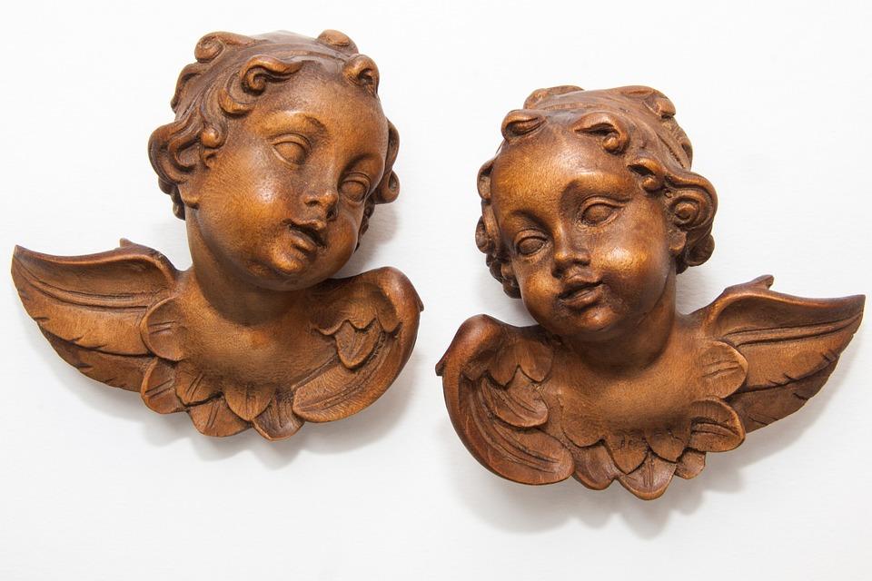 Angel, Cherub, Sculpture, Fig, Wing, Wood, Carving