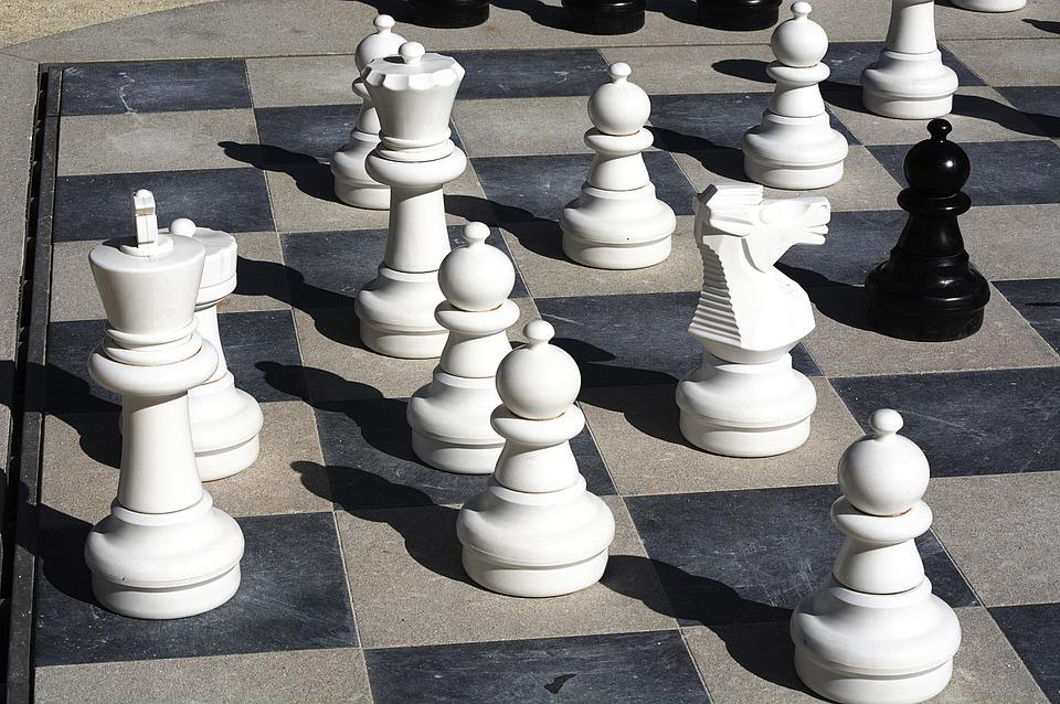 Chess, King, White, Board, Pieces, Play, Game