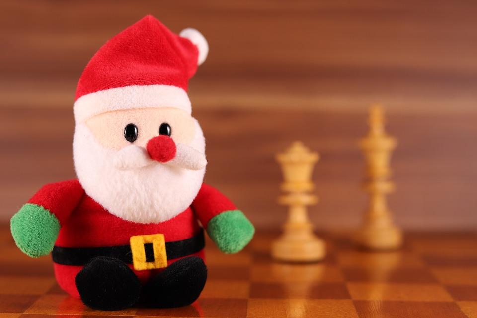 Santa Claus, Chess, Figure, Chess Board, Chess Game