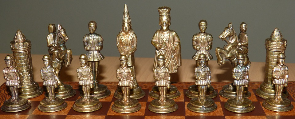 Chess Pieces, Chess, Chess Game, Playing Field