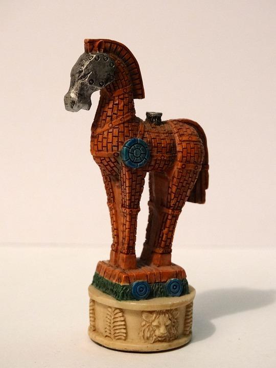 Horse, Chess Piece, Trojan, Brown