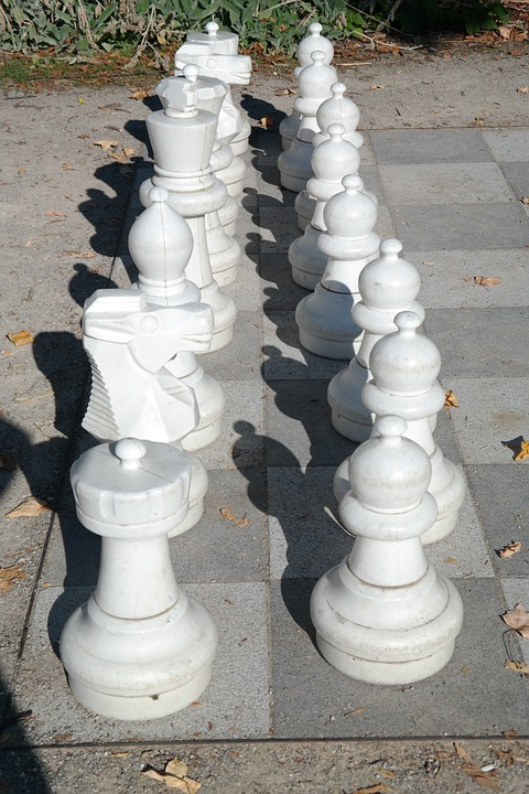 White, White Figures, Figures, Chess Pieces, Chess