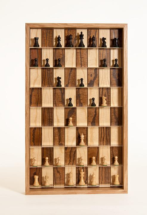Chess Pieces, Wood Chess Board, Chess, Chessboard