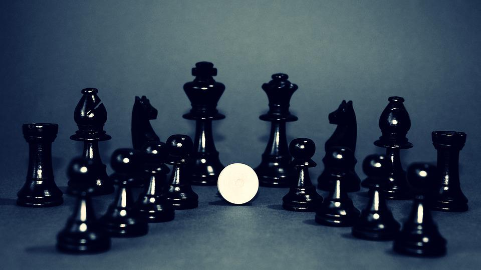 Black And White, Chess, King, Queen