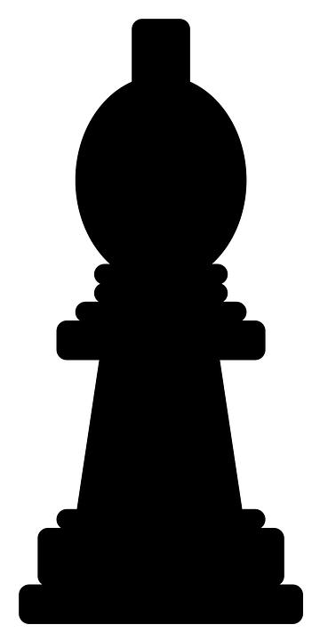 Chess, Bishop, Piece, Game, Recreation, Silhouette