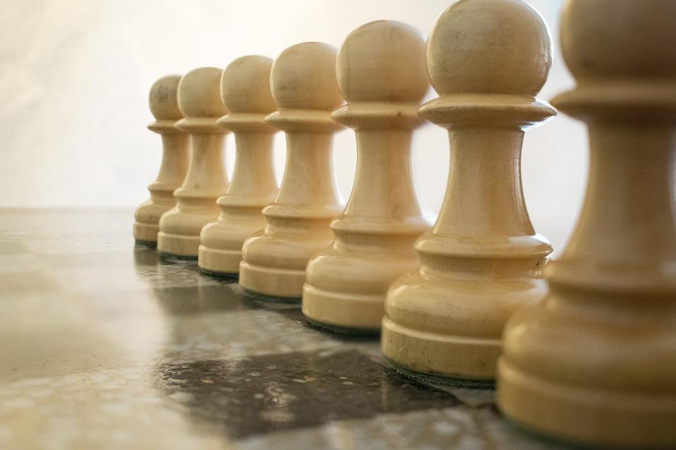 Chess, White Pawns, Parts, Pawns, Game, Chess Board