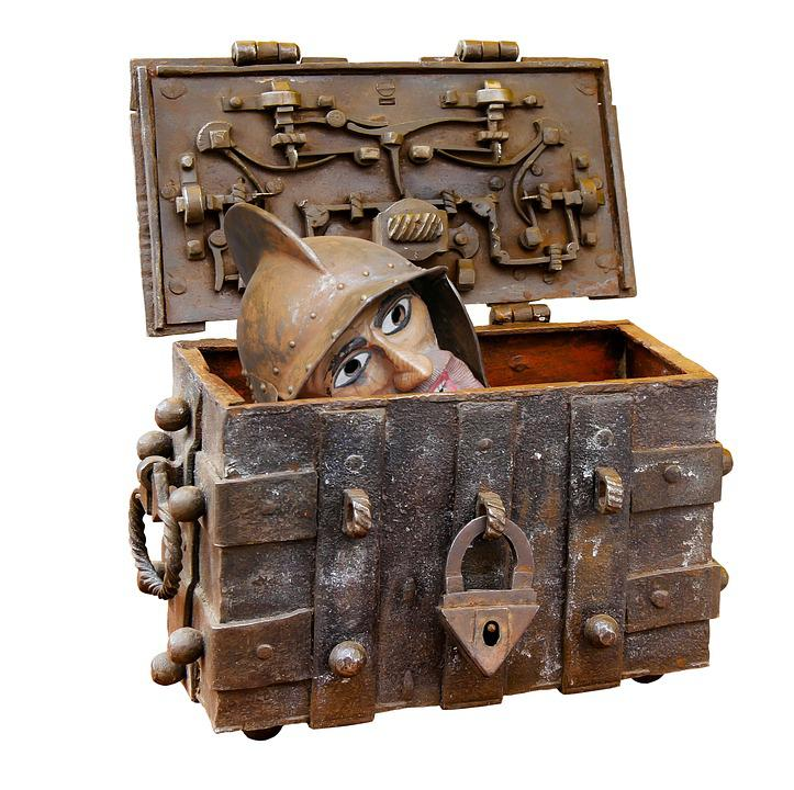 Chest, Box, Treasure Chest, Middle Ages, Head, Bolt