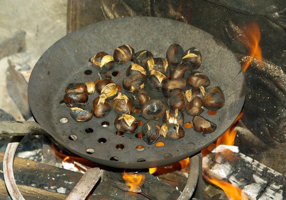 Chestnuts, Stove, Fireplace, Grill