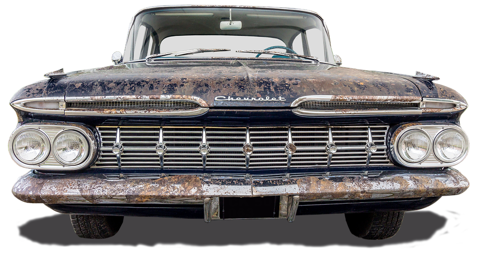 Chevrolet, Oldtimer, Rusted, Old, Isolated, Usa