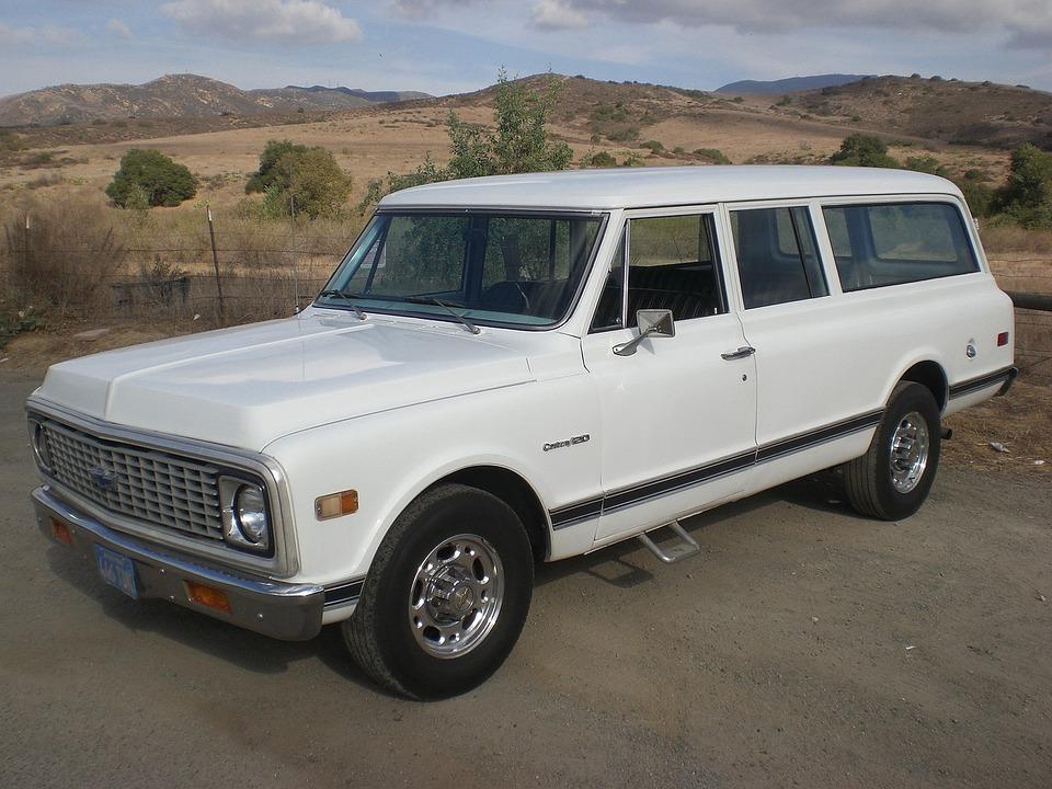 Chevrolet, Vintage, Suburban, Truck, Vehicle