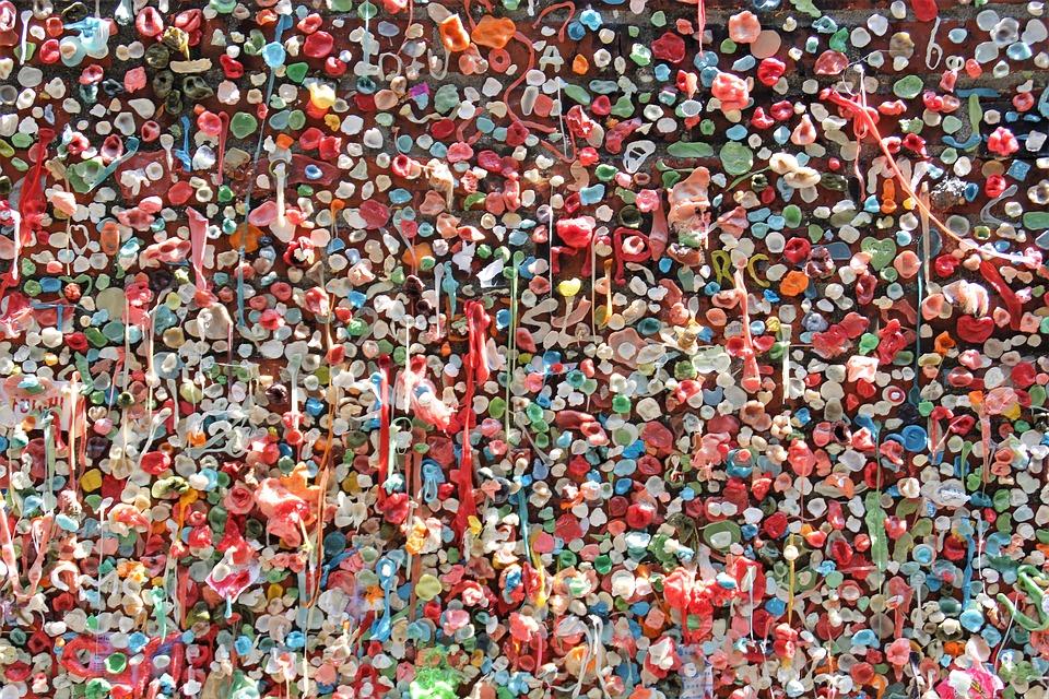 Chewing Gum, Seattle, Stick, Gum Wall, Wall, Tourist