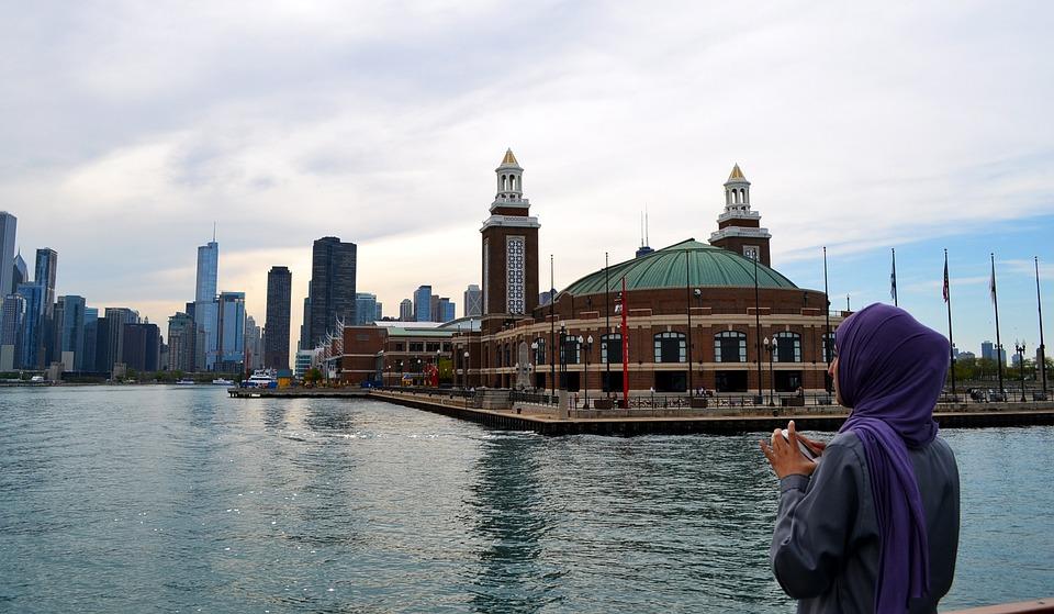 Chicago, Navy Pier, Illinois, Spring, Urban, Ferris
