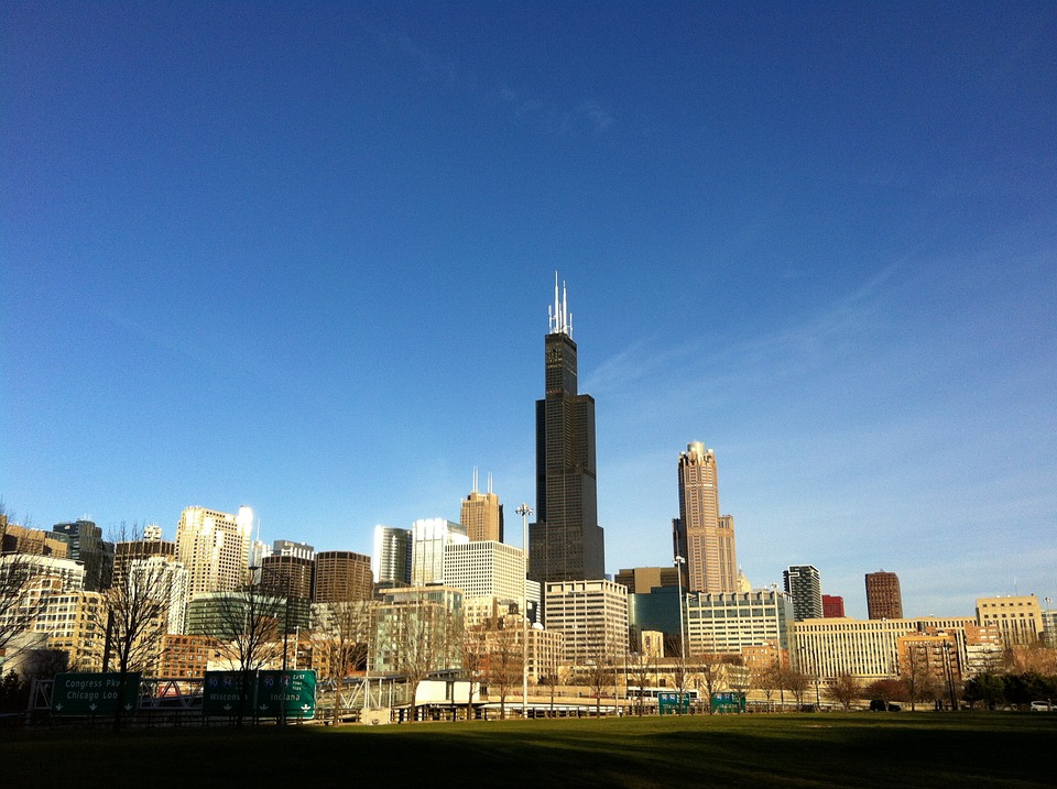 Chicago, Skyline, Cityscape, Sears Tower, Willis Tower