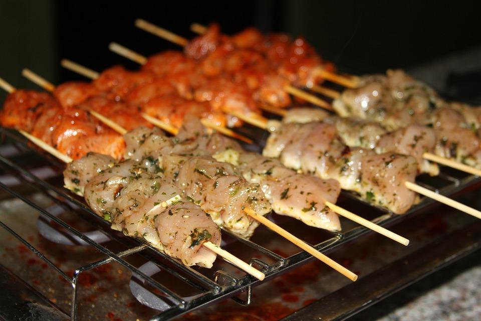 Barbecue, Skewer, Marinade, Chicken, White Chicken