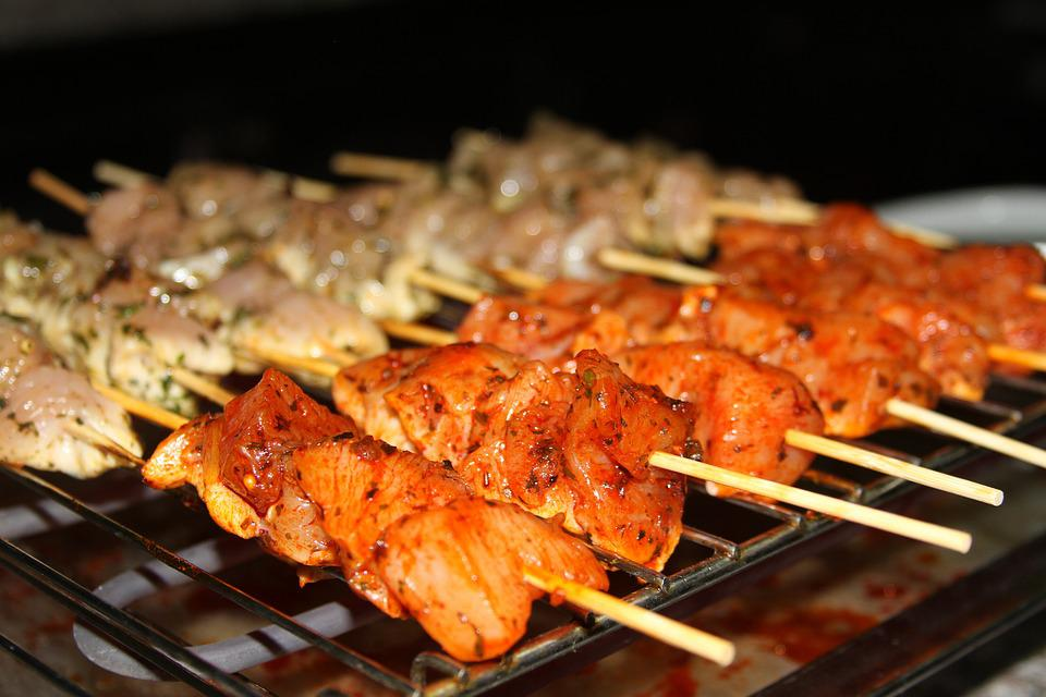 Skewer, White, Chicken, White Chicken, Recipe, Kitchen