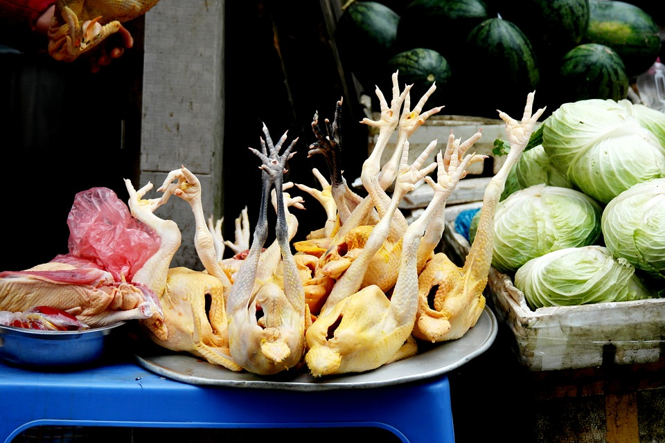 Chicken, Market, Food, Fresh, Meal, Cooking, Poultry