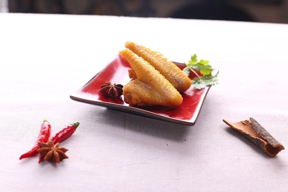 Food Shoot, Chicken Wings, Red Pepper