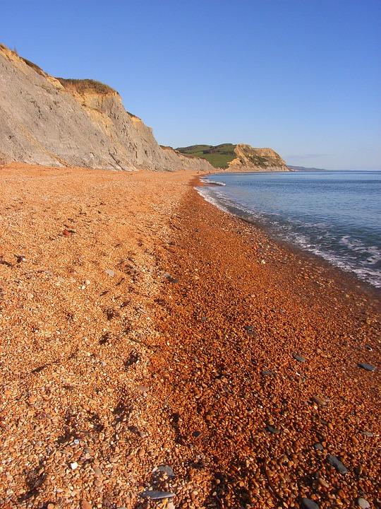 Beach, Pebbles, Cliffs, Chideock, South West Dorset