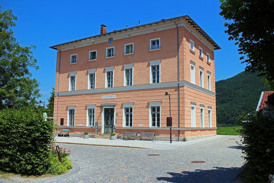Railway Station, Place, Aschau, Chiemgau