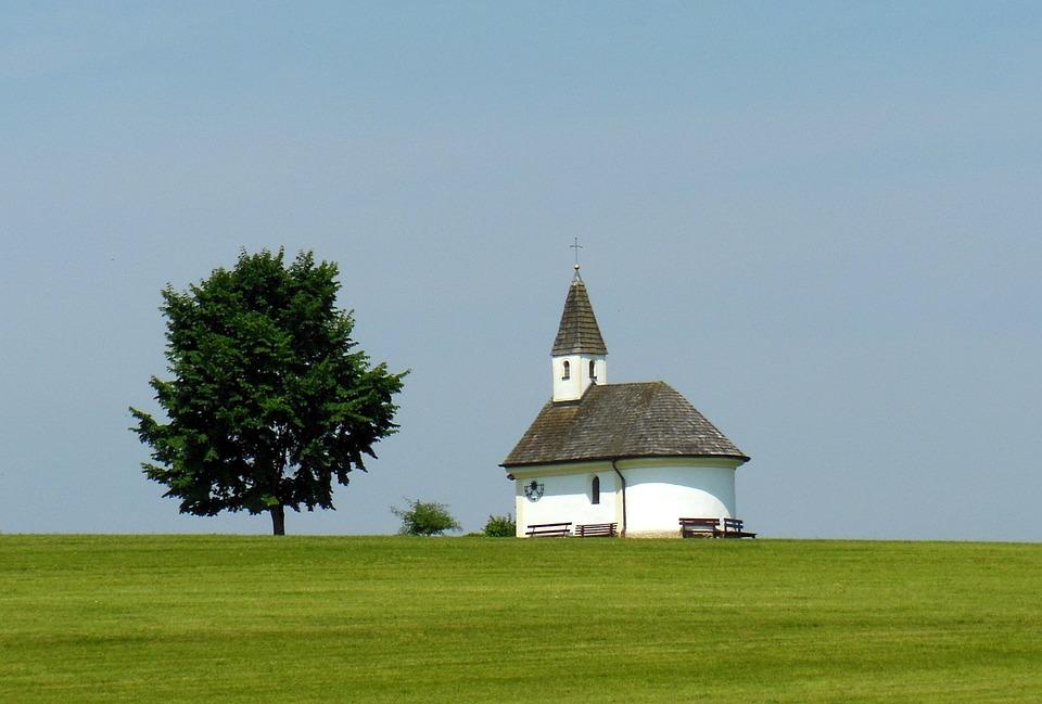 Chapel, Chiemgau, Tree, Idyll, Blue Sky
