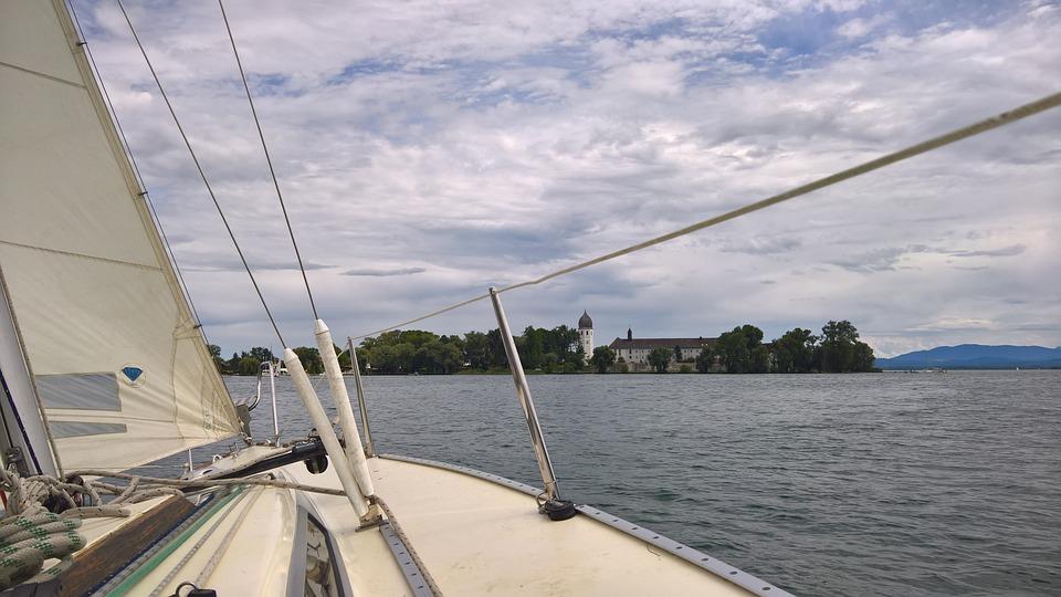 Sail, Sailing Boat, Chiemsee, Dinghy, Sailing Trip
