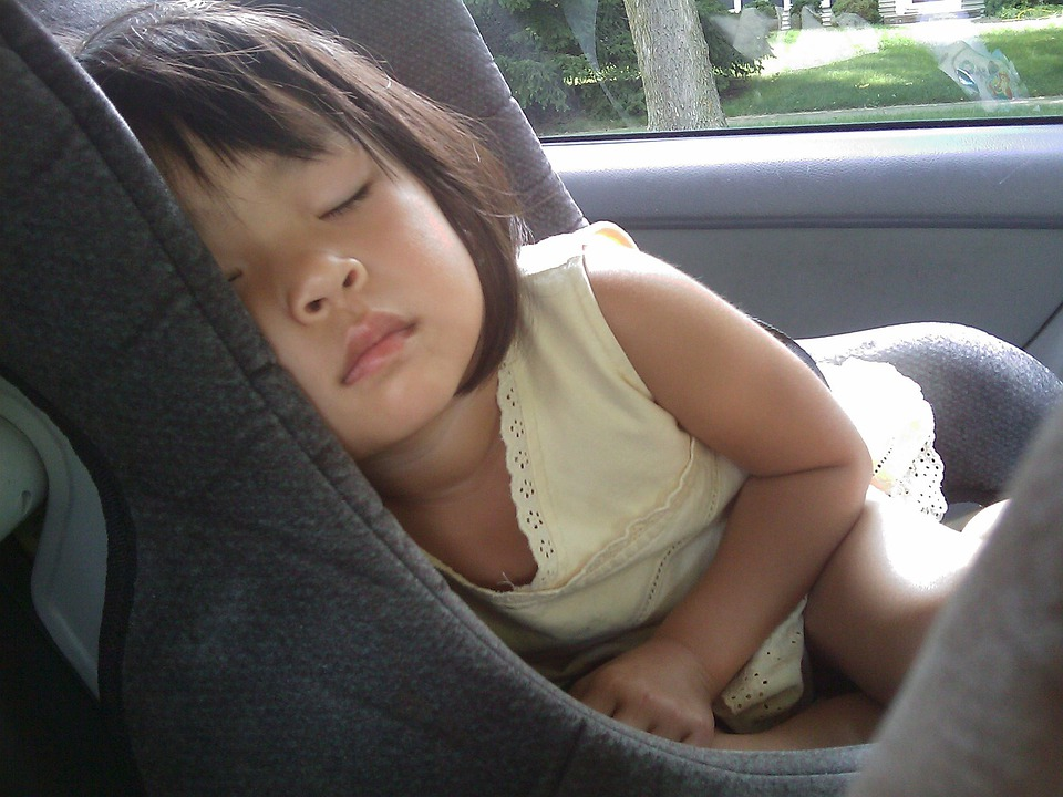 Child, Sleeping, Car Seat, Girl, Baby, Childhood