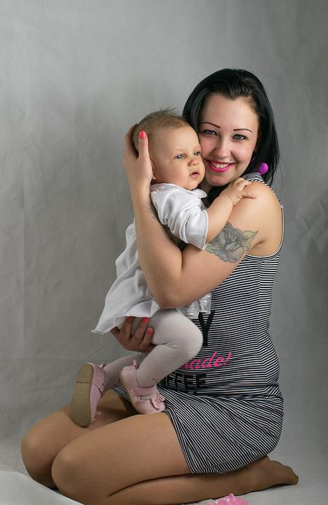 Love, Cute, Beautiful, Family, Woman, Child, Mom, Baby