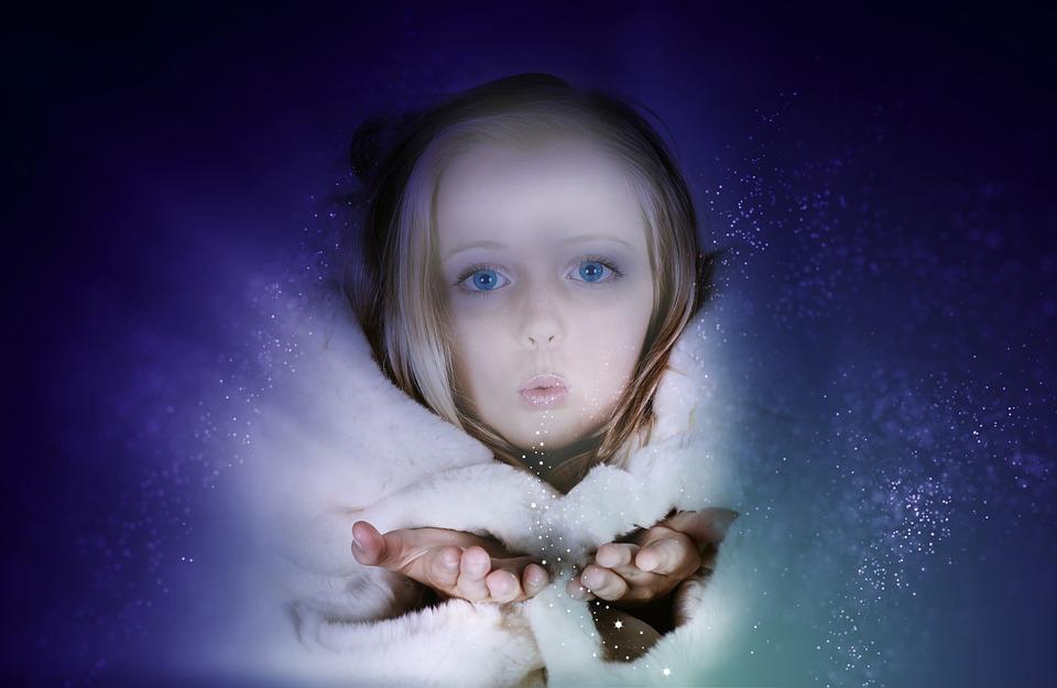 Human, Girl, Child, Face, Blond, Portrait, Winter, Fur