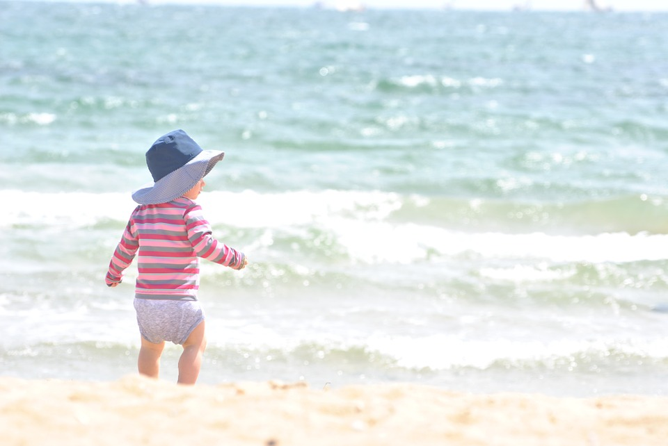 Child, Beach, Baby, Kid, Sea, Landscape, Blue, Water