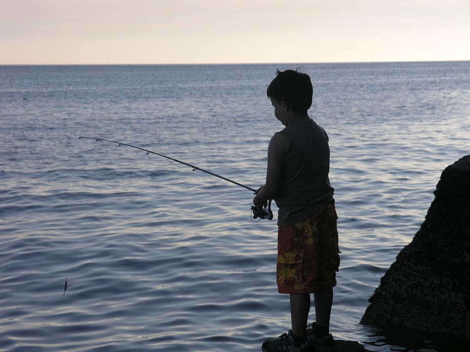 Boy, Fishing, Male, Child, Leisure, Outdoors, Kid