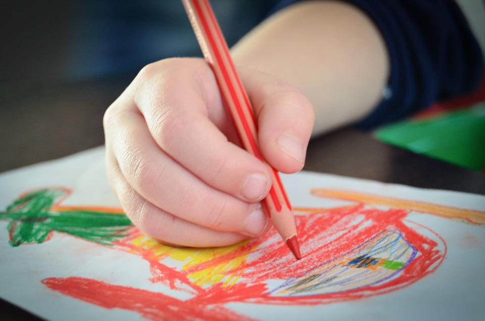 Drawing, Child, Figure, Arts, Talent, Card, Crayons