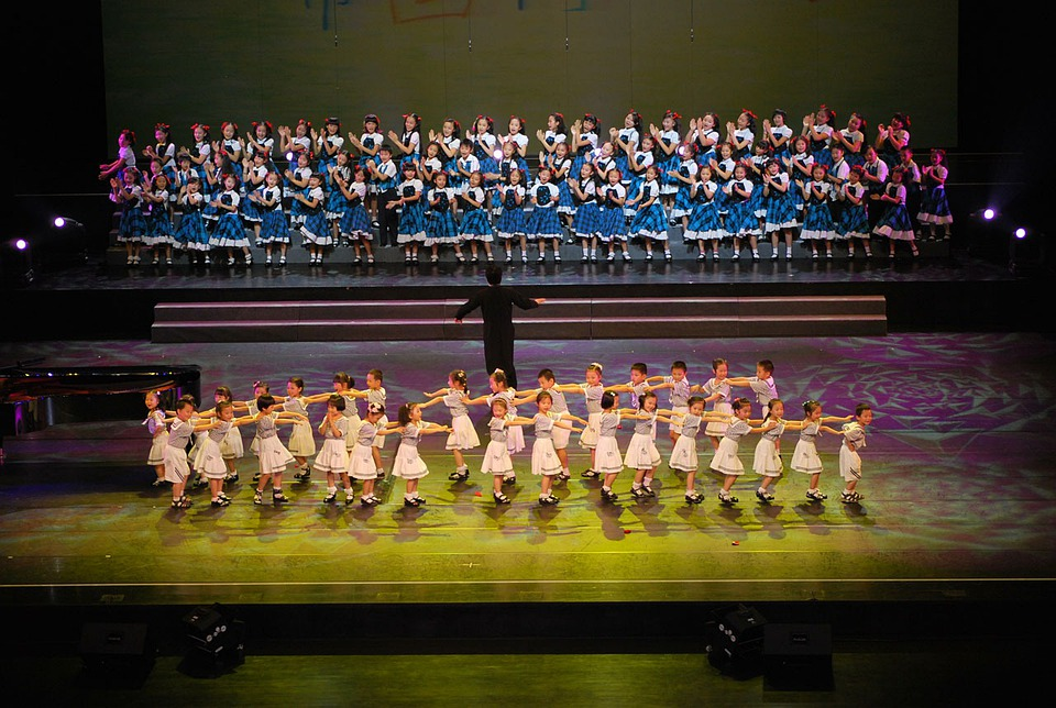Children, Child, People, Performing, Stage
