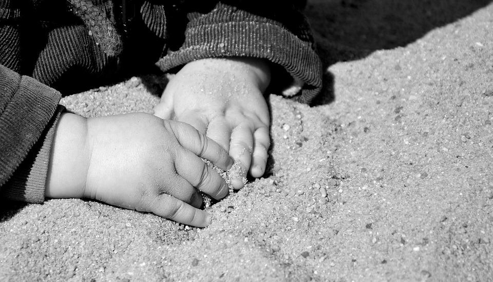 Hands, Children's Hands, Sand, Vacations, Feel, Child
