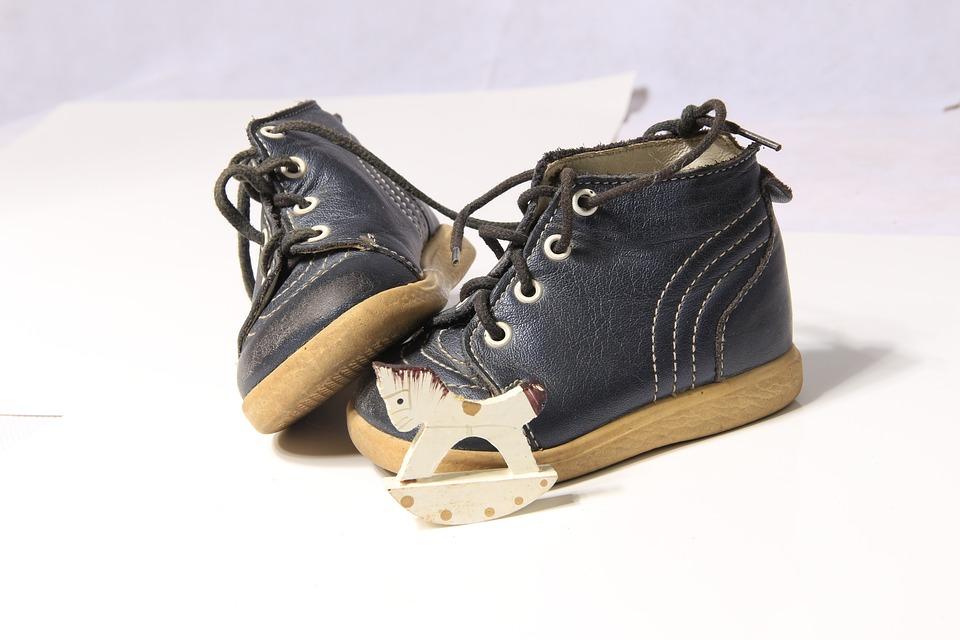 Shoe, Child, Children's Shoe, Rocking Horse, Christmas