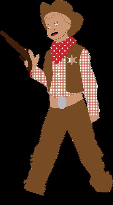 Boy, Child, Comic Characters, Cowboy, Kid