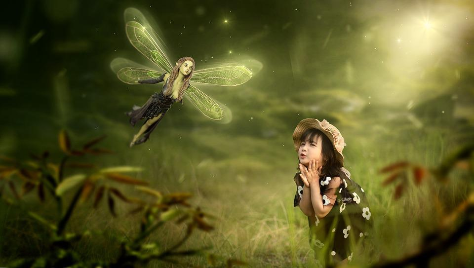 Fantasy, Elf, Child, Girl, Joy, Light, Nature, Mood