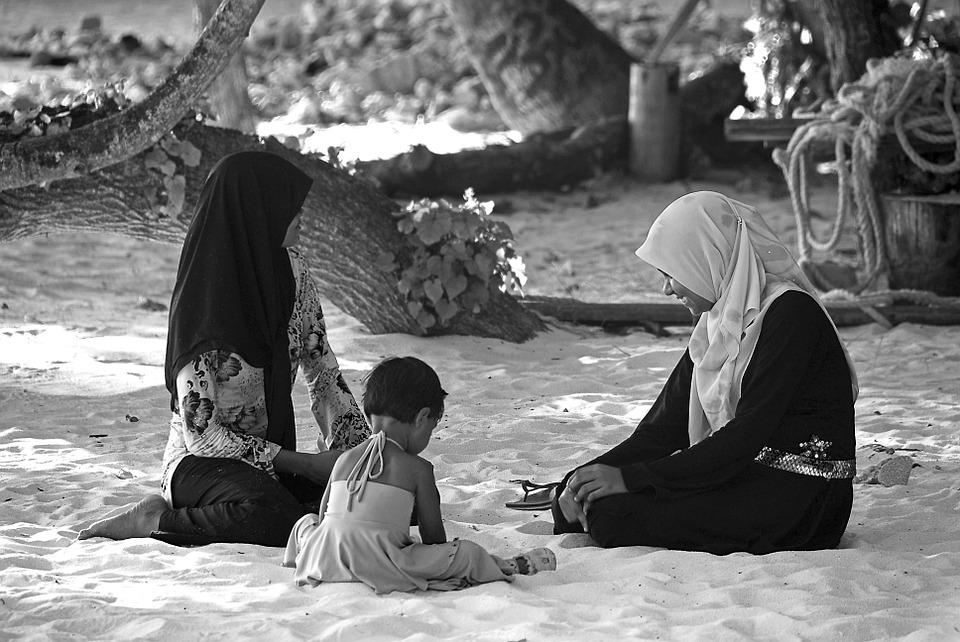 People, Maldives, Family, Child, Sitting, Peaceful